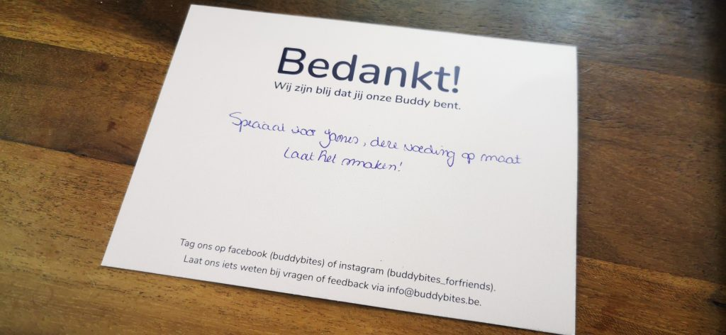Bedankkaart Buddy