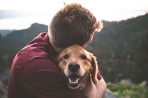 Baasje met hond